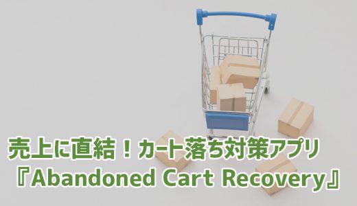 売上に直結!カート落ちをフォローアップするShopifyアプリ『Abandoned Cart Recovery』
